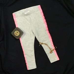 Juicy couture pink lace leggings